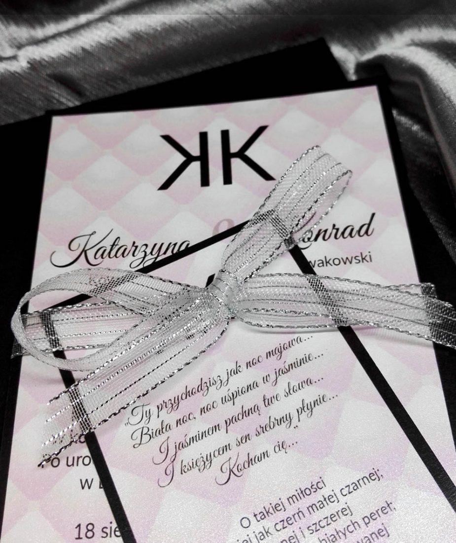 Zaproszenie W Stylu Coco Chanel Oprawa Graficzna Przyjęć